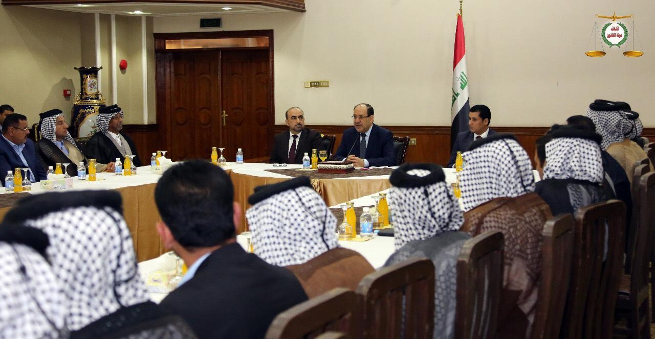 لقاء رئيس ائتلاف دولة القانون مع وفد وجهاء وشيوخ محافظة واسط